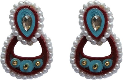 Charvee Oval- Lapped Paper Drop Earring