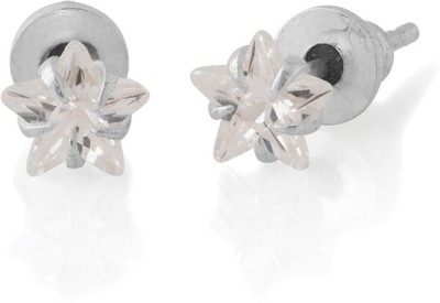 Gemshop STAR SHAPE PAIR OF WITH SHINY STONE Alloy Stud Earring
