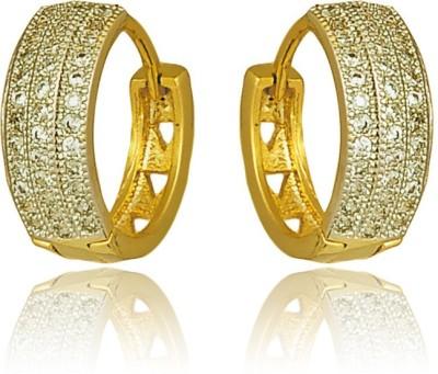 RC Designer Brass, Copper Huggie Earring