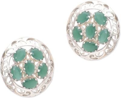 Watch Me Flower Chandelier - Multicoloured Quartz, Topaz Sterling Silver Stud Earring