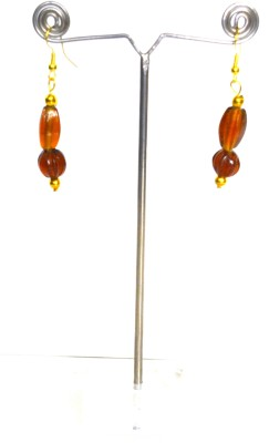 Deal And Gift Ovel & bead Resin Drop Earring