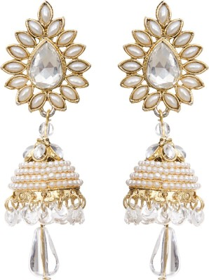 Grand Jewels White Alloy Jhumki Earring