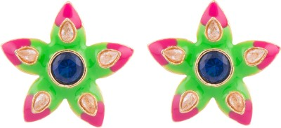 Kshitij Jewels Flower Alloy Stud Earring