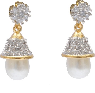 Neelam traditional ethinic designer zumki with ameriacan diamond Alloy Jhumki Earring