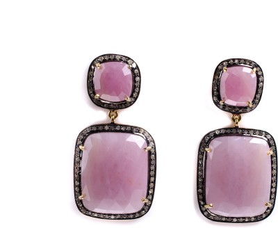 My DT Lifestyle Victorian Style EARING Sapphire Yellow Gold Drop Earring