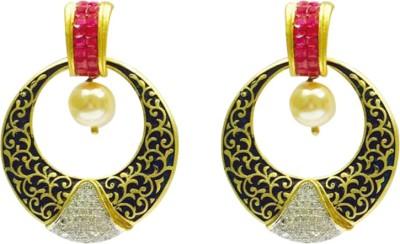 RK Style Spring Sparkle Brass Hoop Earring