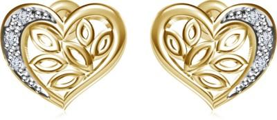 Kirati Heart Shape Cubic Zirconia Sterling Silver Stud Earring