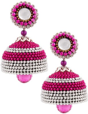 Jaipur Raga Pretty Looking Hancrafted Ball Chain Jhumka Brass Jhumki Earring