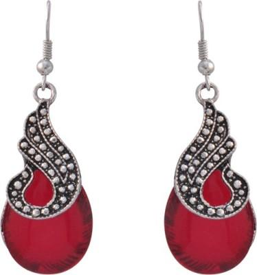 The Fine World Attractive stones studded dangler in German silver Metal Dangle Earring