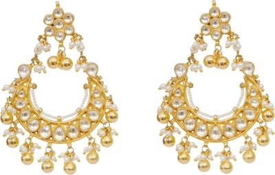 Khushbu Art Jewellers Kundan Earrings Alloy Chandelier Earring