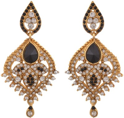 Blacksmith Black Diva Crystal Metal Drop Earring