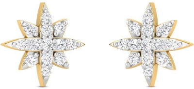 Zaamor Diamonds Belladonna Diamond Gold Stud Earring