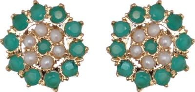 Classique Designer Jewellery Flower Brass Stud Earring