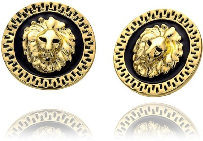 Roma Brothers Lion ver Alloy, Enamel Stud Earring