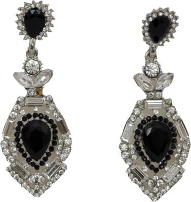WoW Black Cubic Zircon Crystal Drop Earring