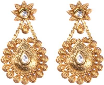 Ved Jewel Antique Brass Drop Earring