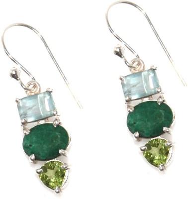 Arvino Show Stopper , Emerald, Peridot Sterling Silver Dangle Earring