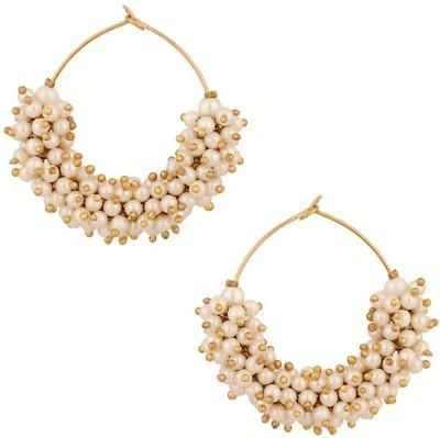 Jewel Shine Copper Hoop Earring