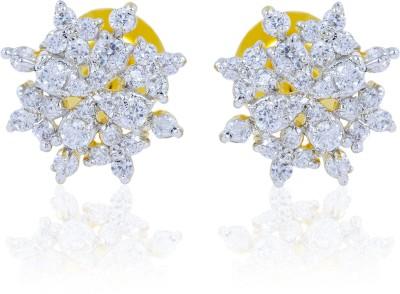 Tiara Gems White Beauty Alloy Stud Earring