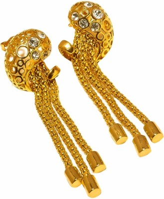 Sanaa Creations Crafted Gold Liners Nested Earring Alloy Earring Set
