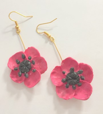 Craffiti Flower Clay Ceramic Drop Earring