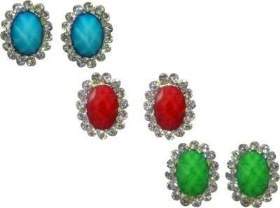 Gayatri Creations OVAL ASSORTED Metal Stud Earring