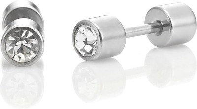 Vaishnavi First Quality Double Sided Cubic Zirconia Made Of 316l Stainless Steel Stud Earring