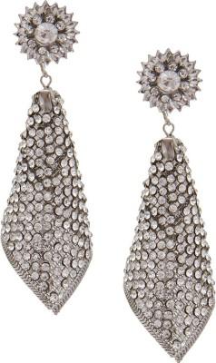 SB Fashions silver diamond earrings Brass Drop Earring