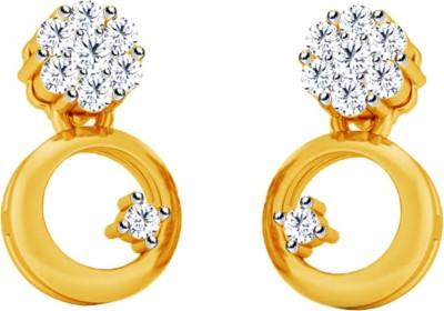 JacknJewel Floral Vintage Yellow Gold 18kt Diamond Stud Earring