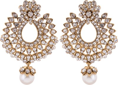 FR Stone Studded Cubic Zirconia Alloy Drop Earring