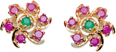 Pink Rose Magestic stone Alloy Stud Earring