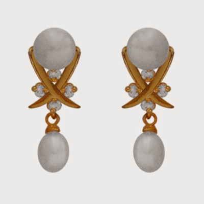 Nisa Pearls Pearl Alloy Drop Earring