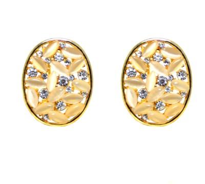 Pink Amber TE1 Metal Stud Earring