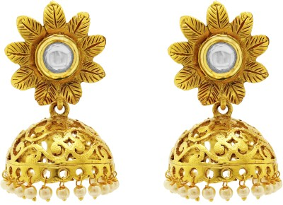 Ishaani Love Forever Cubic Zirconia Copper Jhumki Earring