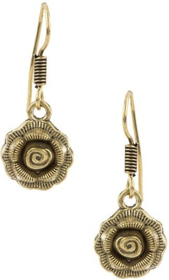 Factorywala Exclusive Pair Of Oxidized Plating Floral Design Alloy Dangle Earring
