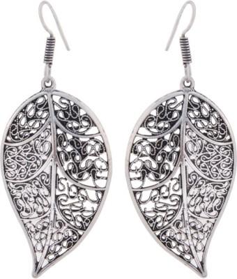 T M FASHIONS Leaf shaped German Silver Dangle Earring