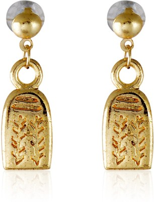 Crunchy Fashion Glamour Grace Golden Alloy Dangle Earring
