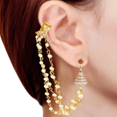 Prisha PPIPLCZER10 Zircon Copper Jhumki Earring