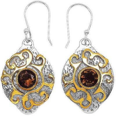 Johareez Beautiful Topaz Silver Huggie Earring