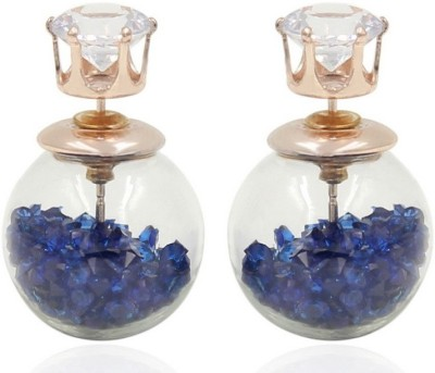 Cilver Fashion Trendy double faced Crystal Alloy Plug Earring