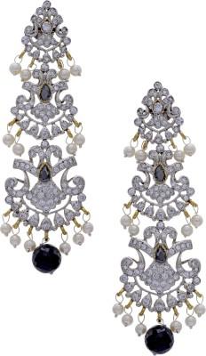 Hyderabad Jewels Cubic Zirconia Silver, Alloy Drop Earring