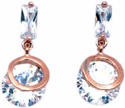 WoW Rose Gold Tone Cubic Zirconia Alloy Drop Earring