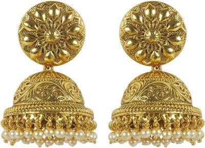 Muchmore Traditional Earring For Women And Girls For Party And Wedding Occasion Pearl Alloy Earring Set