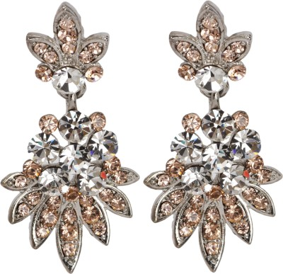 Maisha Silver & Champagne Alloy Drop Earring
