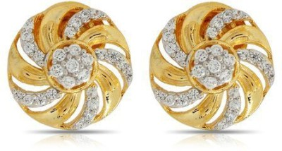Luxor Round Shape Brass Stud Earring