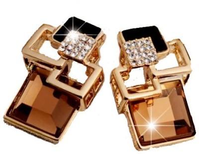 Kundaan LUXURY Korean Geometric Crystal Alloy Drop Earring