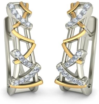 Joyra Divine Swarovski Zirconia Sterling Silver Hoop Earring