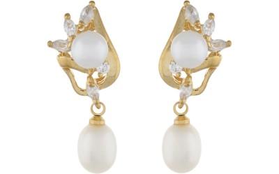Classique DesignerJewellery Glossy Pearl Alloy Earring Set