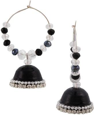TRENDY DEALS Fancy Black Hancrafted Artificial Baali Jhumka Beads Paper Jhumki Earring