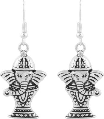 Silvery Metal Earring Brass, Copper Dangle Earring
